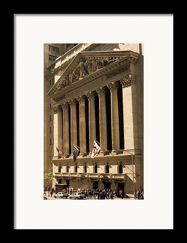 Wall St. Framed Print featuring the photograph Ny Stock Exchange by Gerard Fritz
