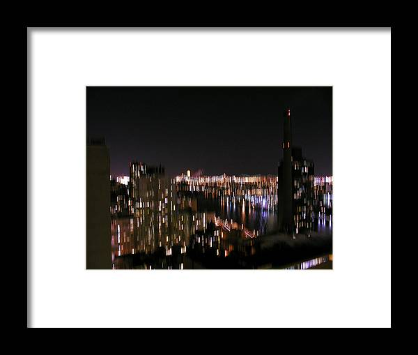 Night Framed Print featuring the photograph Nyc At Night by Robert Harris