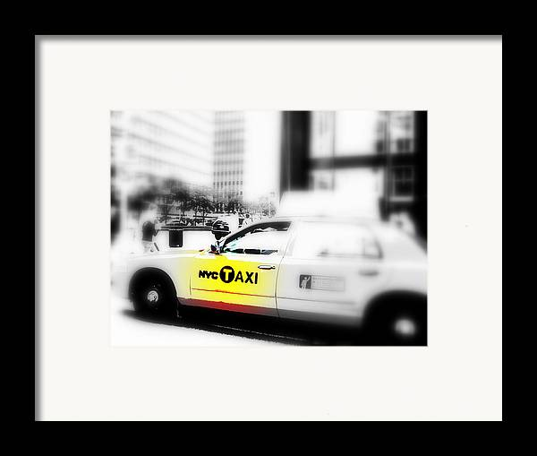 America Framed Print featuring the photograph Nyc Cab by Funkpix Photo Hunter