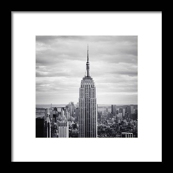 New Framed Print featuring the photograph NYC Empire by Nina Papiorek