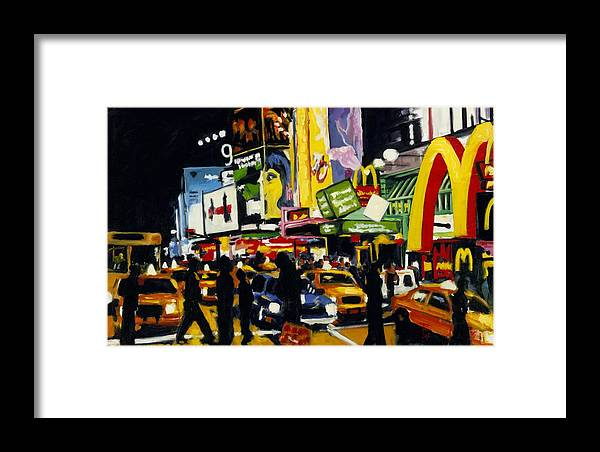 New York Framed Print featuring the painting Nyc II The Temple Of M by Robert Reeves