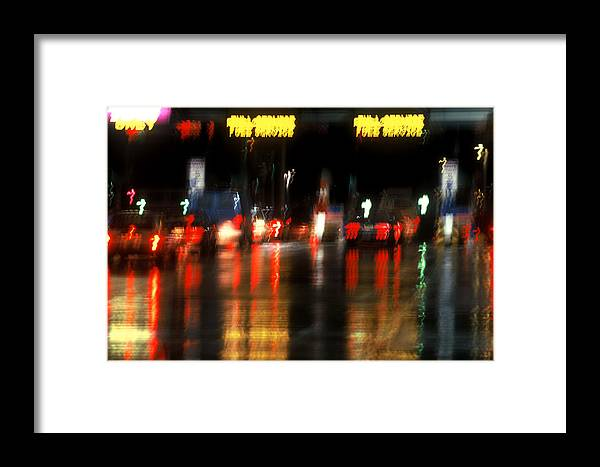 Abstract Framed Print featuring the photograph Nyc Toll Booth by Brad Rickerby