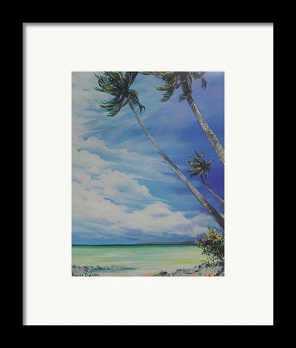 Trinidad And Tobago Seascape Framed Print featuring the painting Nylon Pool Tobago. by Karin Dawn Kelshall- Best