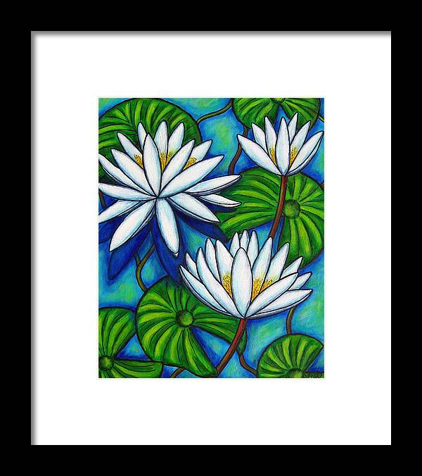 Lily Framed Print featuring the painting Nymphaea Blue by Lisa Lorenz