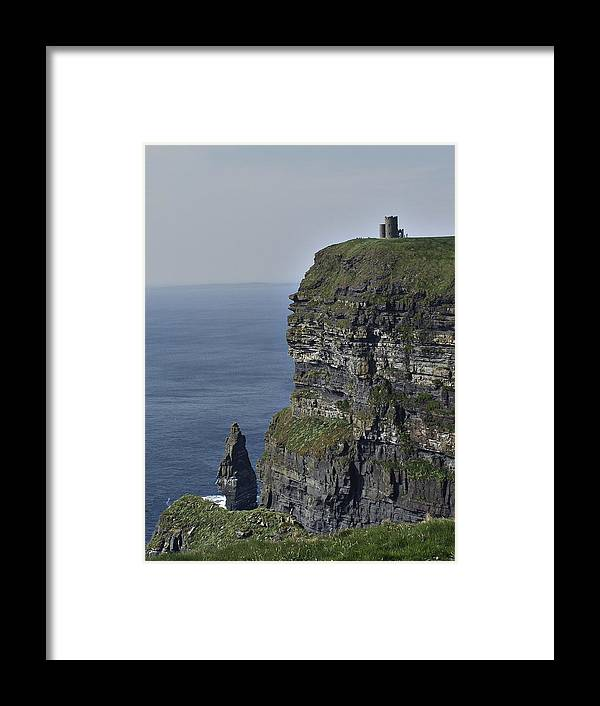 Irish Framed Print featuring the photograph O Brien's Tower At The Cliffs Of Moher Ireland by Teresa Mucha