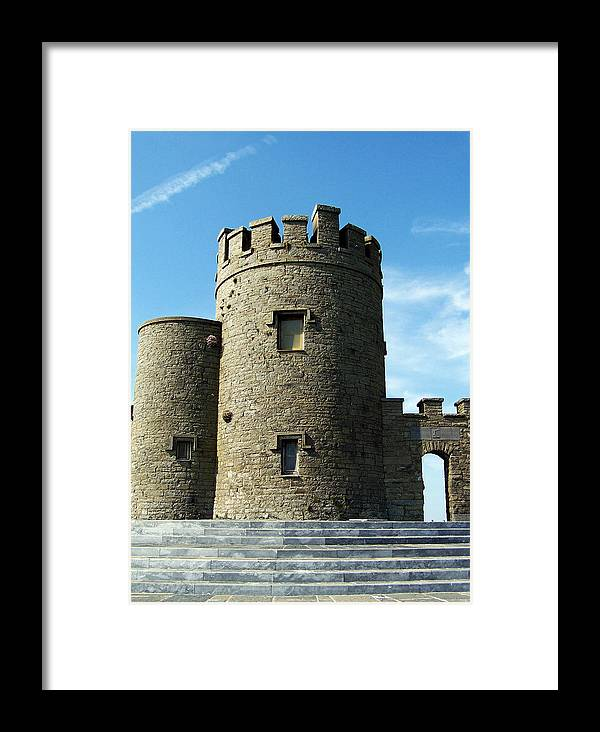 Irish Framed Print featuring the photograph O Brien's Tower Cliffs Of Moher Ireland by Teresa Mucha