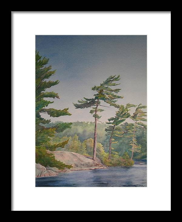 Lake Framed Print featuring the painting O Canada No.1 by Debbie Homewood