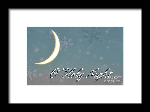 Card Framed Print featuring the photograph O Holy Night by Billie-Jo Miller