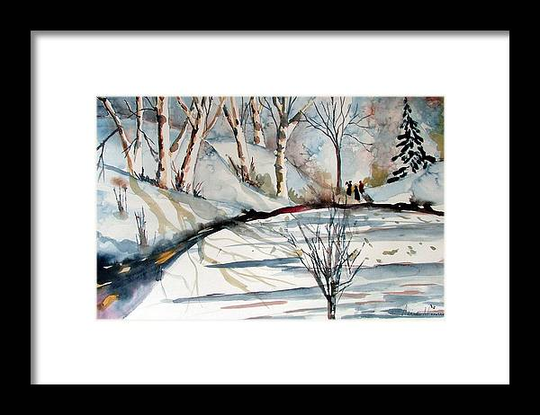 Winter Framed Print featuring the painting O Holy Night by Mindy Newman