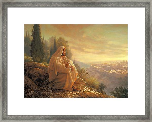 O Jerusalem Framed Print By Greg Olsen