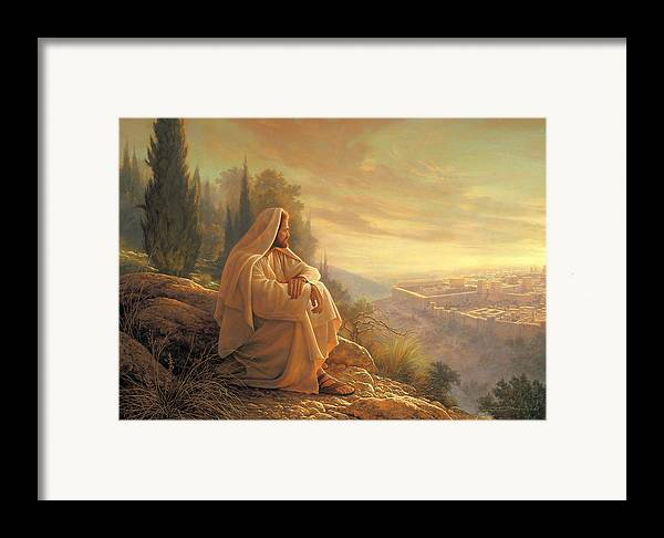 O Jerusalem Framed Print By Greg Olsen