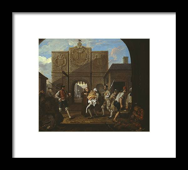 William Hogarth Framed Print featuring the painting O The Roast Beef Of Old England by William Hogarth