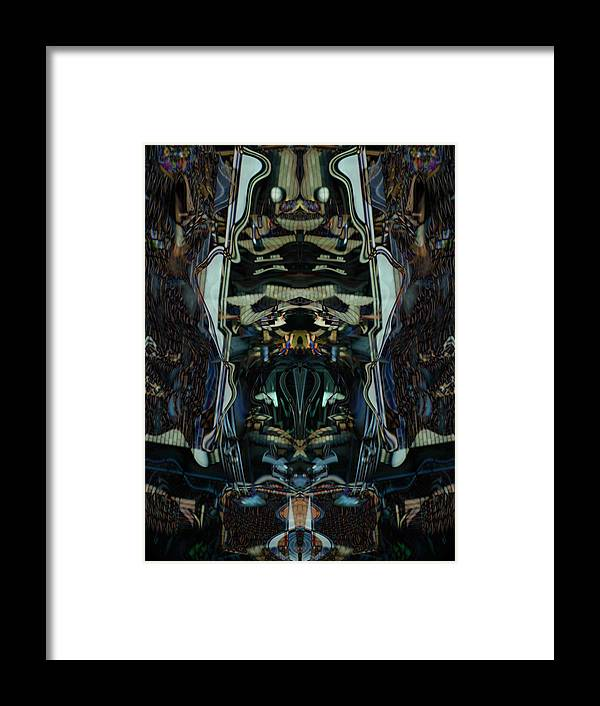 Deep Framed Print featuring the digital art Oa-4922 by Standa1one