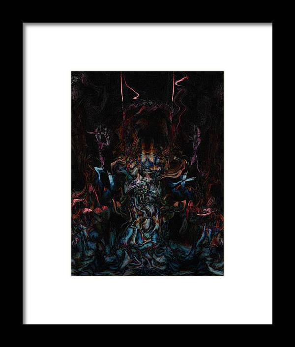 Deep Framed Print featuring the digital art Oa-6031 by Standa1one