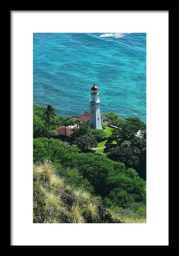 Oahu Framed Print featuring the photograph Oahu Lighthouse by Michael Lewis