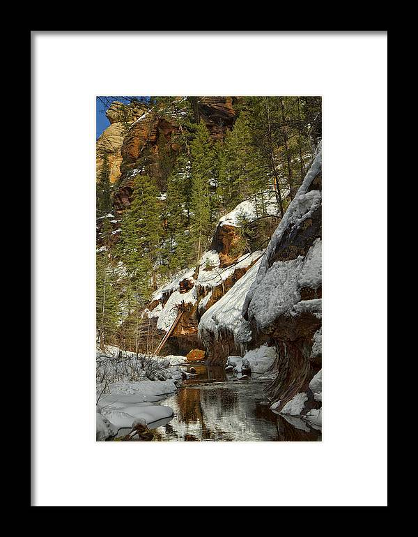 Westfork Trail Framed Print featuring the photograph Oak Creek Beckons by Tom Kelly