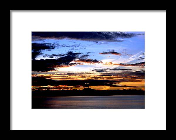 Sunrise Framed Print featuring the photograph Oak Harbor Sunrise Sr 1002 by Mary Gaines