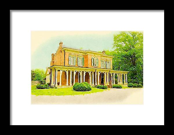 Murfreesboro Framed Print featuring the digital art Oaklands Mansion by Chip Payne