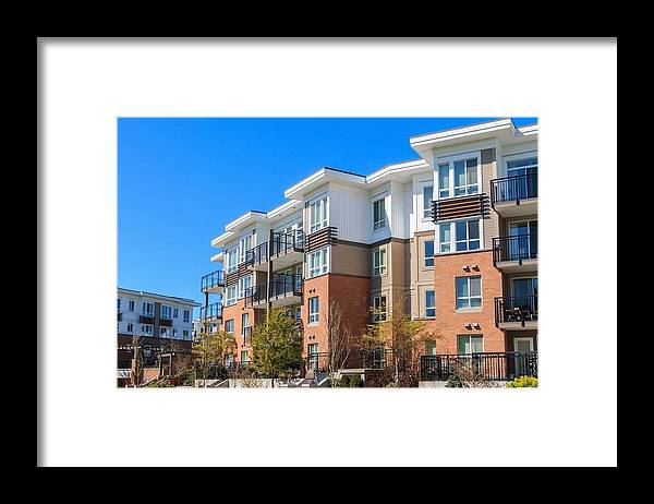 Oakville Framed Print featuring the relief Oakville Property Management by Tony