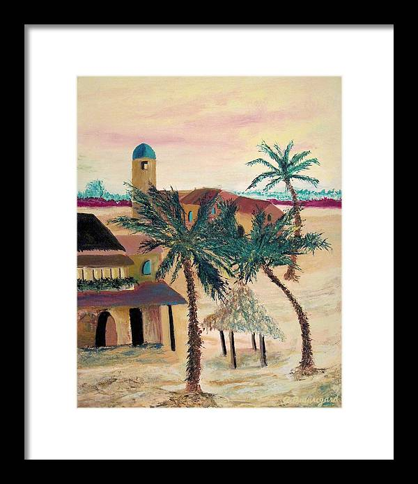 Arcitecture Framed Print featuring the painting Oasis by Richard Beauregard