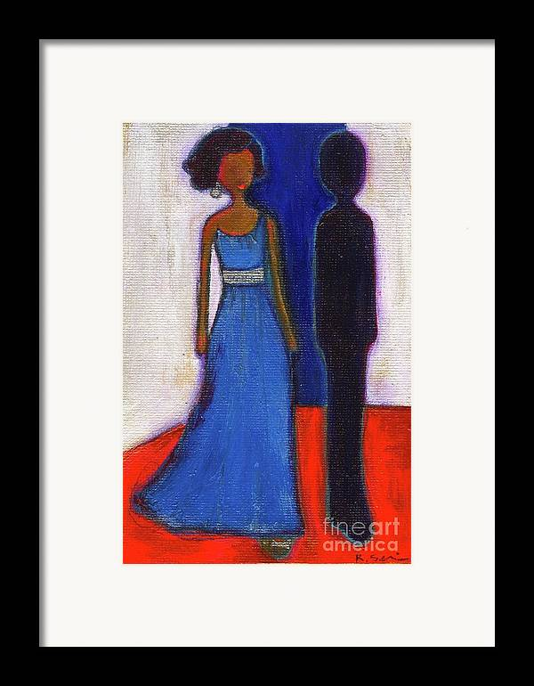 Girl Framed Print featuring the painting Obama Black And Blue by Ricky Sencion