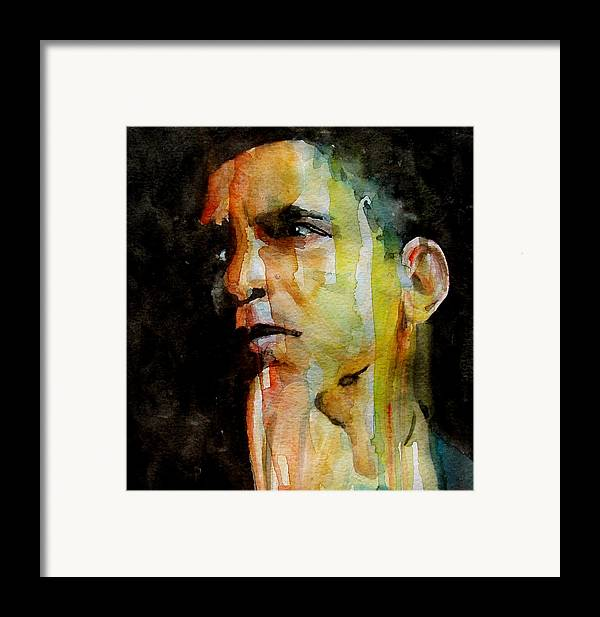 Barack Obama Framed Print featuring the painting Obama by Paul Lovering