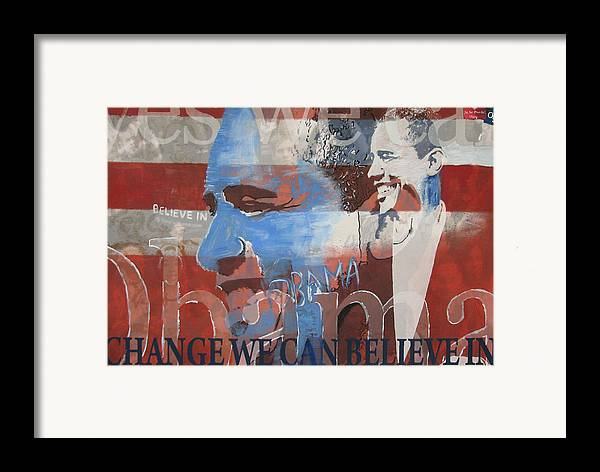 Obama Art Framed Print featuring the mixed media Obama Yes by Xavier Carter