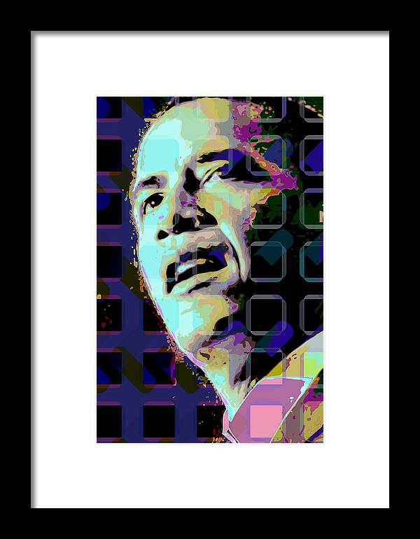 Obama Framed Print featuring the digital art Obama2 by Scott Davis
