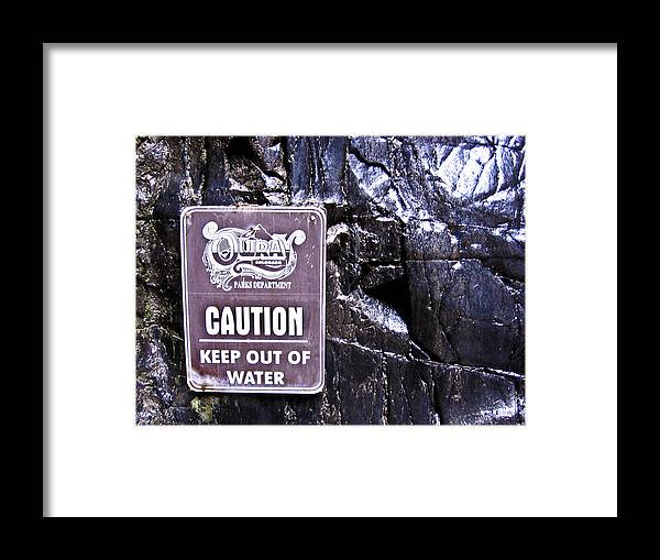 Sign Framed Print featuring the photograph Obey by Tessa Hunt-Woodland