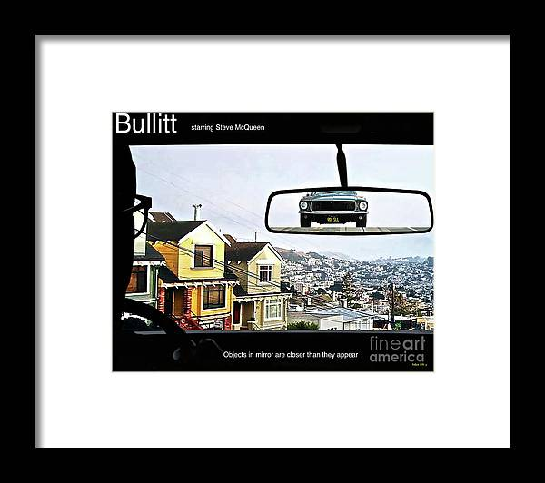 Celebrity Framed Print featuring the mixed media Objects In Mirror Are Closer Than They Appear, Buillitt, Steve Mcqueen by Thomas Pollart