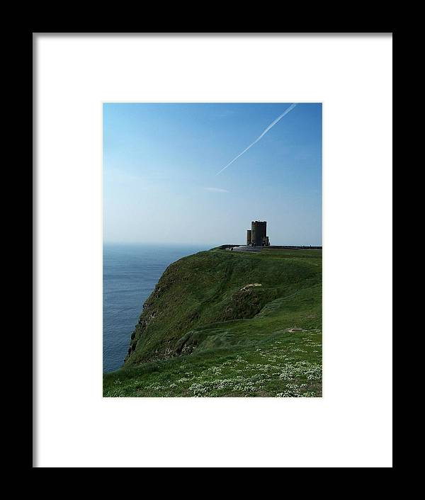 Irish Framed Print featuring the photograph O'brien's Tower At The Cliffs Of Moher Ireland by Teresa Mucha