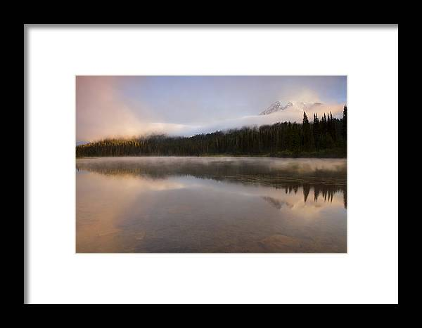 Mt. Rainier Framed Print featuring the photograph Obscured Dawn by Mike Dawson