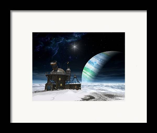 Space Framed Print featuring the digital art Observatory by Cynthia Decker