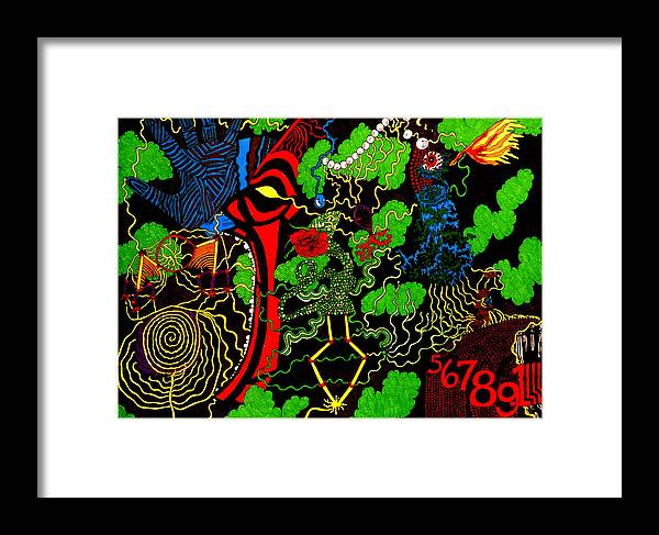 Abstract Framed Print featuring the print Obsession by William Watson