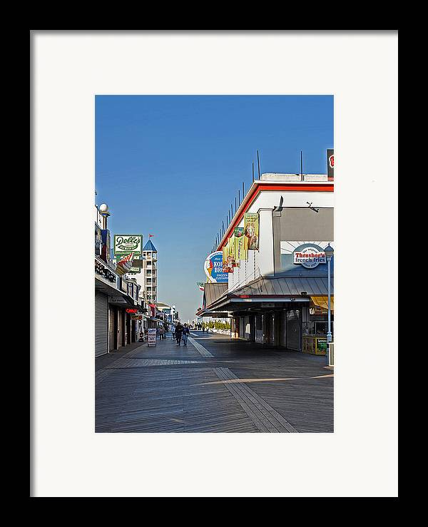 Fair Framed Print featuring the photograph Oc Boardwalk by Skip Willits