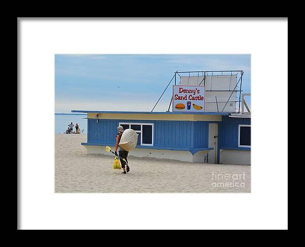 Beach Framed Print featuring the photograph Ocean Beach In September by Virginia Levasseur