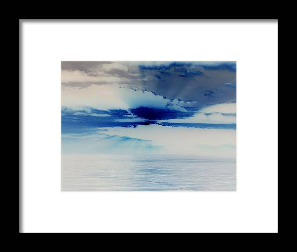Seascapes Framed Print featuring the photograph Ocean Blue Monday by James Harper