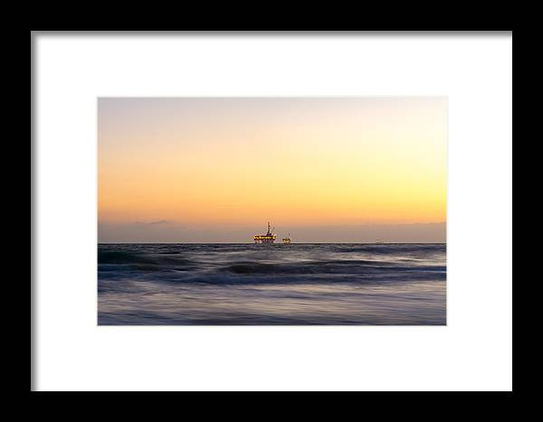 Huntington Beach Framed Print featuring the photograph Ocean Blur by Alex Nicolson