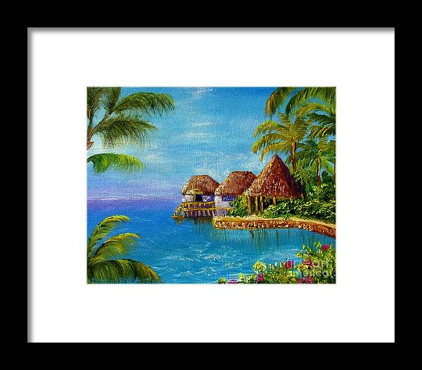 Ocean Framed Print featuring the painting Ocean Breeze by Inna Montano
