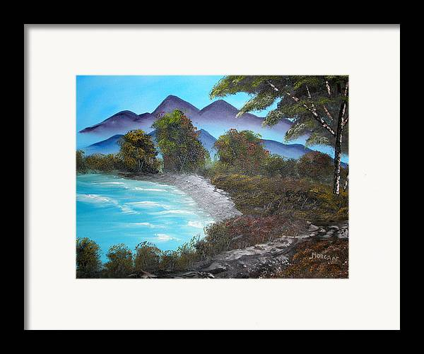Seascape Framed Print featuring the painting Ocean Breezes by Sheldon Morgan