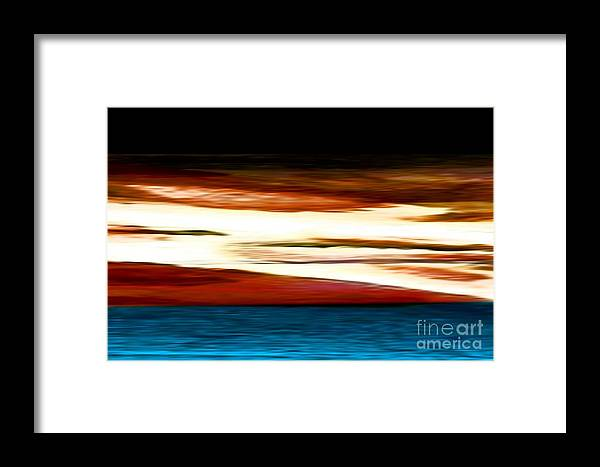Abstract Framed Print featuring the painting Ocean Dawn by John OShea