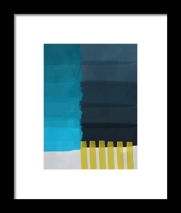 Ocean Framed Print featuring the painting Ocean Front Walk- Art by Linda Woods by Linda Woods