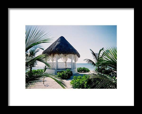 Resort Framed Print featuring the photograph Ocean Gazebo by Anita Burgermeister