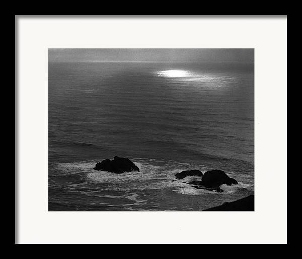 Nature Framed Print featuring the photograph Ocean Light by Benjamin Garvey