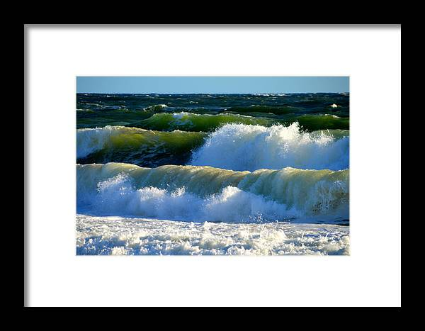 Ocean Framed Print featuring the photograph Ocean Majesty by Dianne Cowen