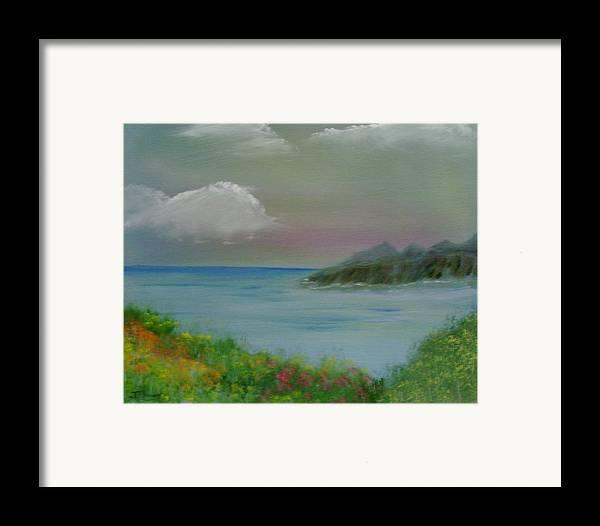 Ocean Framed Print featuring the painting Ocean Meadow by Dottie Briggs