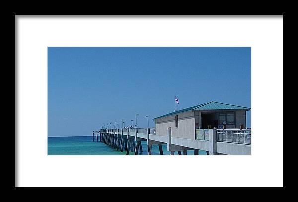 Pier Framed Print featuring the photograph Ocean Pier by Greg Brandt