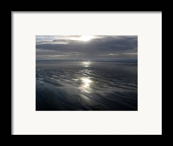 Ocean Framed Print featuring the photograph Ocean Shores by Ty Nichols