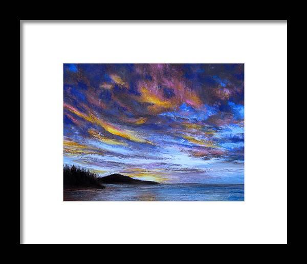 Ocean Framed Print featuring the pastel Ocean Sky by Susan Jenkins