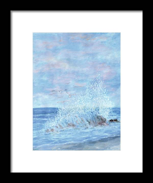 Gulls Framed Print featuring the painting Ocean Spray by Ben Kiger